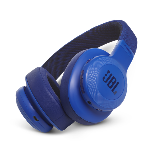 JBL E55BT - Blue - Wireless over-ear headphones - Hero