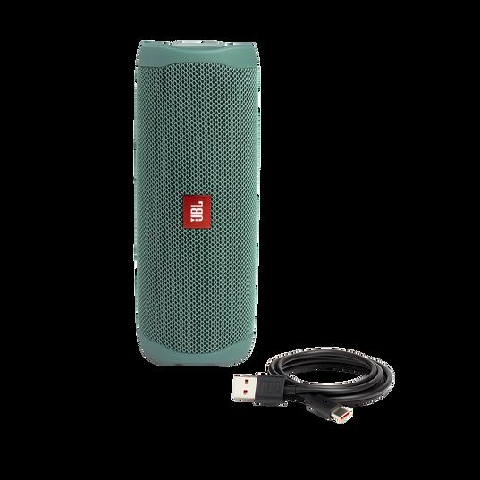 JBL Flip 5 Eco edition - Forest Green - Portable Speaker - Eco edition - Detailshot 2