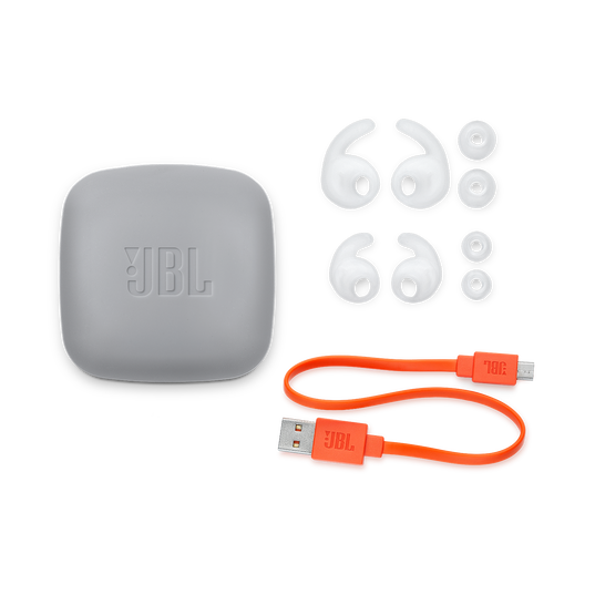 JBL Reflect Contour 2 - White - Secure fit Wireless Sport Headphones - Detailshot 3