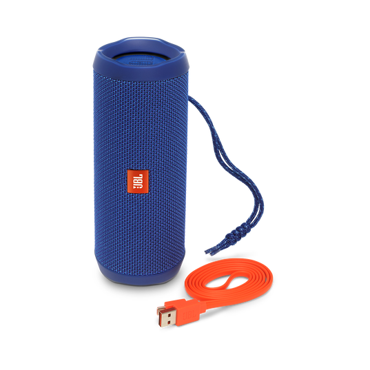 JBL Flip 4 - Blue - A full-featured waterproof portable Bluetooth speaker with surprisingly powerful sound. - Detailshot 1