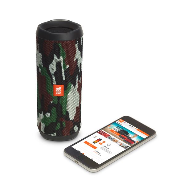 JBL Flip 4 Special Edition - Squad - A full-featured waterproof portable Bluetooth speaker with surprisingly powerful sound. - Detailshot 2