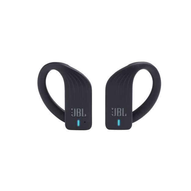 JBL Endurance PEAK - Black - Waterproof True Wireless In-Ear Sport Headphones - Front