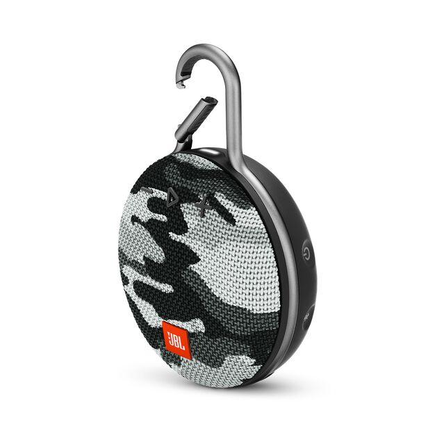 JBL CLIP 3 - Black/White Camouflage - Portable Bluetooth® speaker - Detailshot 3