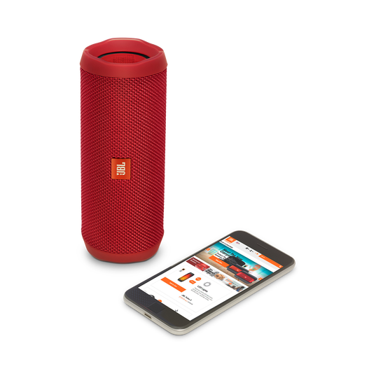 JBL Flip 4 - Red - A full-featured waterproof portable Bluetooth speaker with surprisingly powerful sound. - Detailshot 2