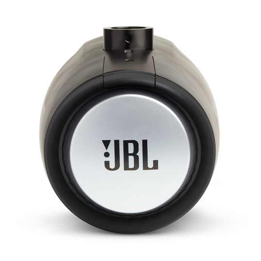 """JBL Tower X Marine MT6HLB - Black Gloss - 6-1/2"""" (160mm) enclosed two-way marine audio tower speaker with 1"""" (25mm) horn loaded compression tweeter – Black - Back"""