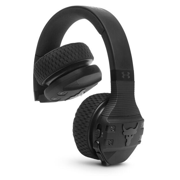 UA Sport Wireless Train Project Rock – Engineered by JBL - Black Matte - On-ear sport Headphones - Detailshot 3