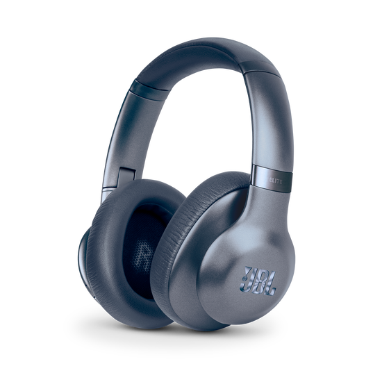 JBL EVEREST™ ELITE 750NC - Steel Blue - Wireless Over-Ear Adaptive Noise Cancelling headphones - Hero