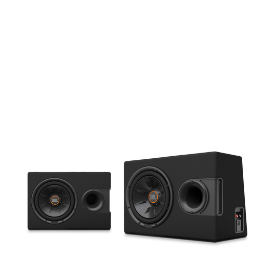"""S2-1024SS - Black - 10"""" (250mm) Slipstream ported enclosure - Detailshot 8"""