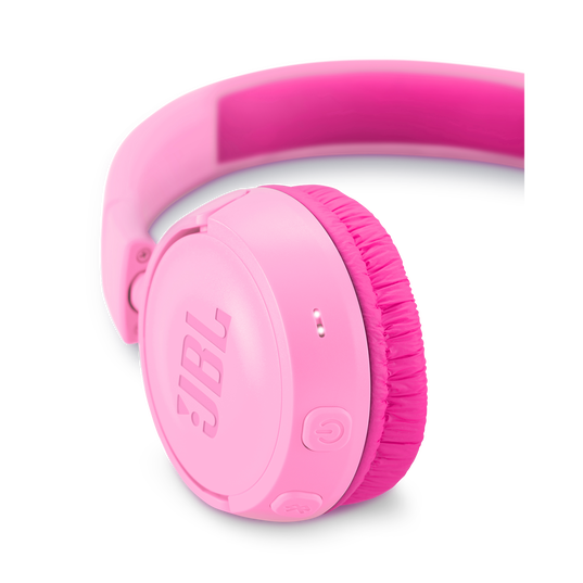 JBL JR300BT - Pink - Kids Wireless on-ear headphones - Detailshot 2