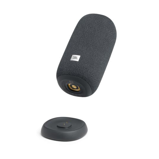 JBL Link Portable - Grey - Portable Wi-Fi Speaker - Detailshot 1