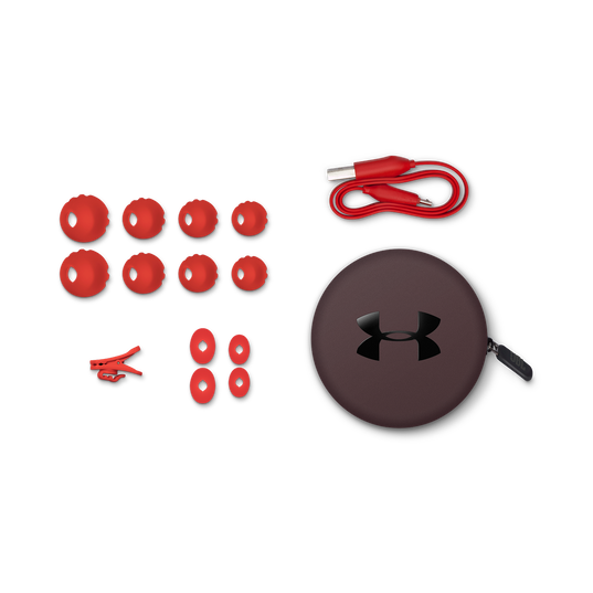 Under Armour Sport Wireless - Red - Wireless in-ear headphones for athletes - Detailshot 5