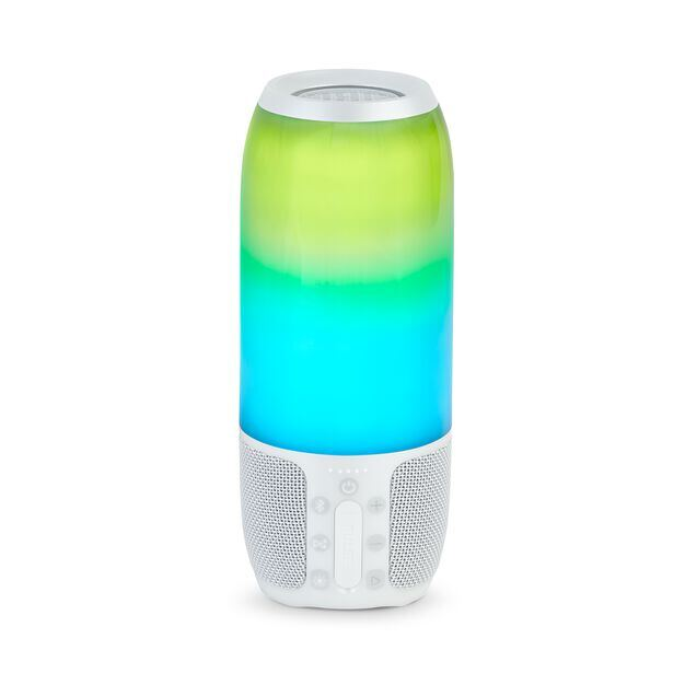 Pulse 3 - White - Waterproof portable Bluetooth speaker with 360° lightshow and sound. - Back