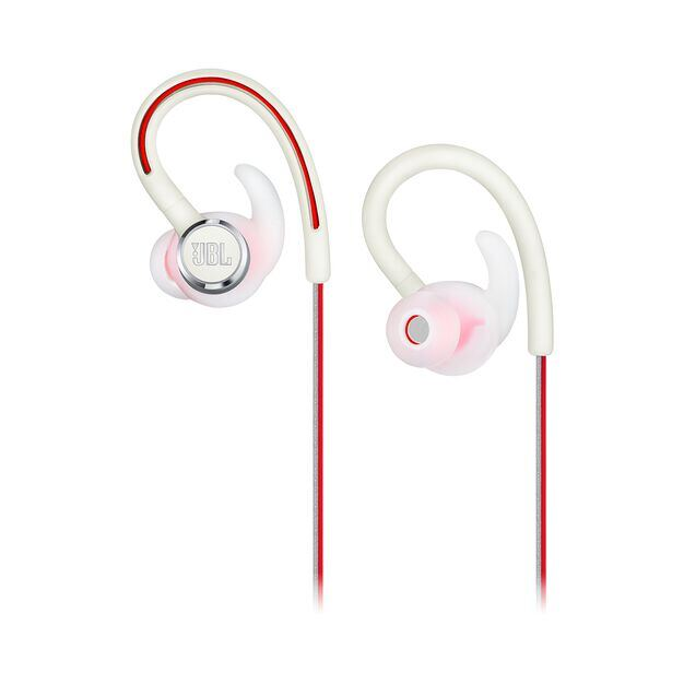 JBL Reflect Contour 2 - White - Secure fit Wireless Sport Headphones - Detailshot 2
