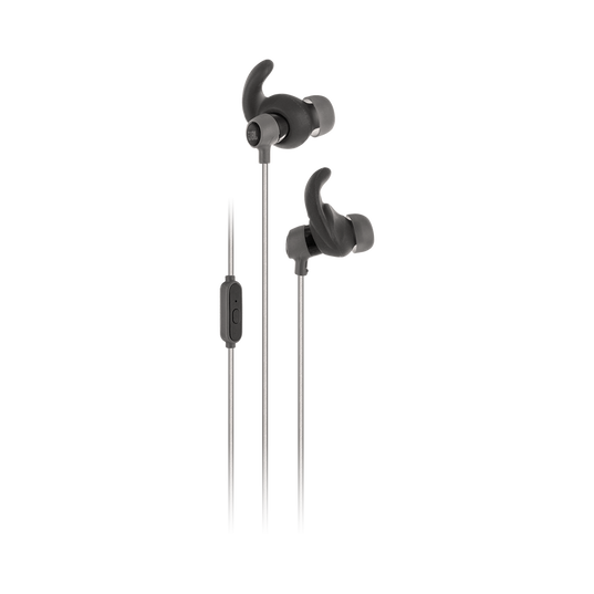 Reflect Mini - Black - Lightweight, in-ear sport headphones - Hero
