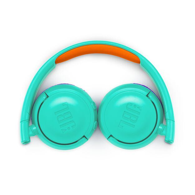JBL JR300BT - Teal - Kids Wireless on-ear headphones - Detailshot 3