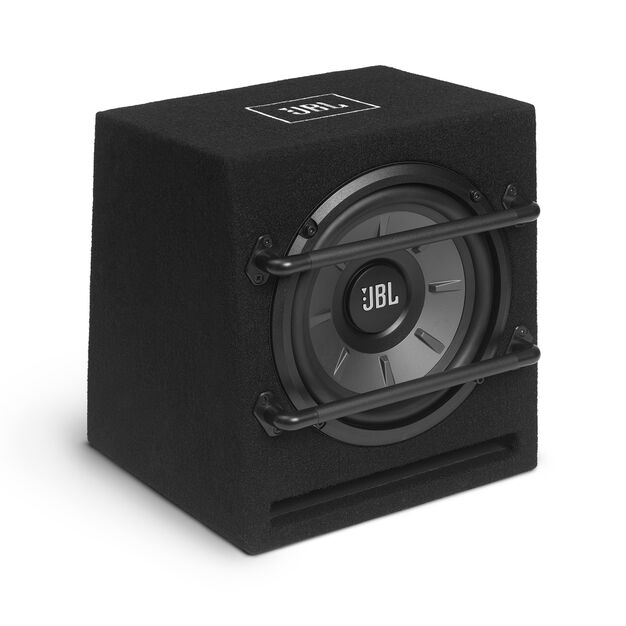 "JBL Stage 800BA Enclosure - Black - Stage Series Powered 8"" (200mm) Subwoofer System - Hero"