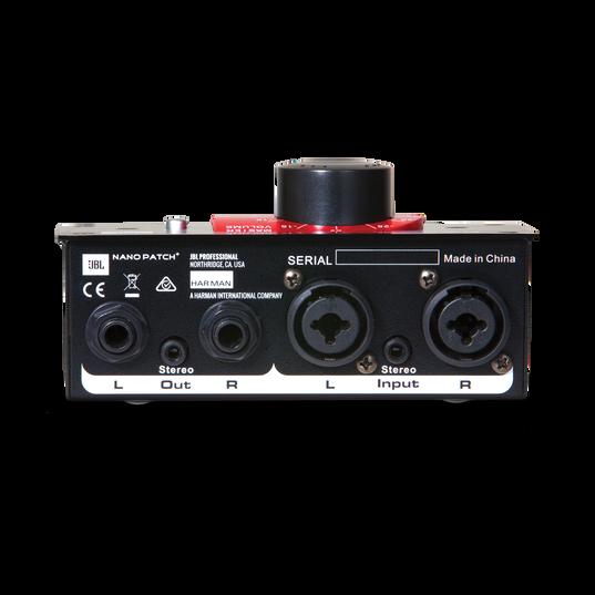 JBL Nano Patch+ - Black - Compact 2 Channel Passive Volume Controller - Back