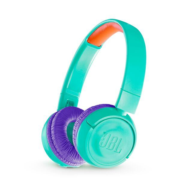 JBL JR300BT - Teal - Kids Wireless on-ear headphones - Hero