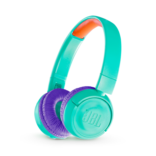 JBL JR300BT - Teal - Kids Wireless on-ear headphones - Hero