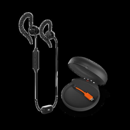 JBL Focus 700 - Black - In-Ear Wireless Sport Headphones with charging case - Hero