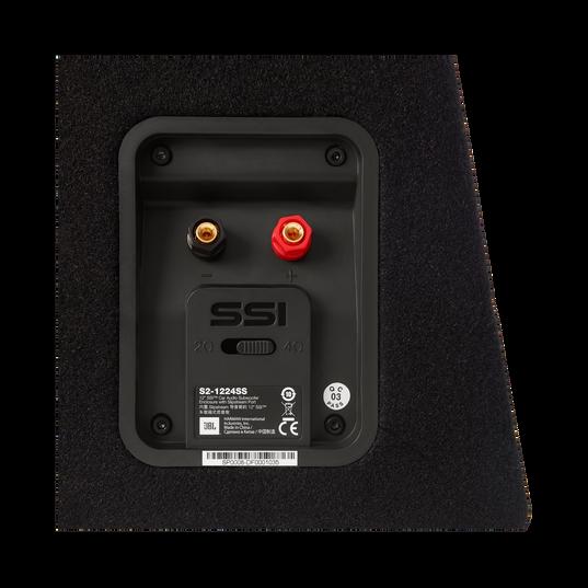 """S2-1024SS - Black - 10"""" (250mm) Slipstream ported enclosure - Detailshot 6"""