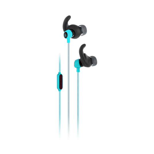 Reflect Mini - Teal - Lightweight, in-ear sport headphones - Hero
