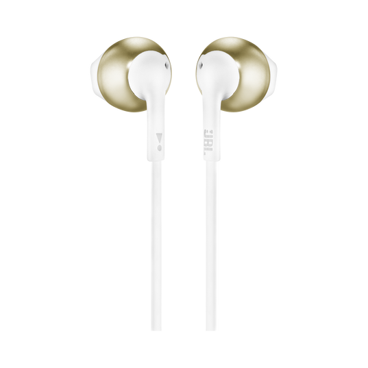 JBL TUNE 205 - Champagne Gold - Earbud headphones - Back