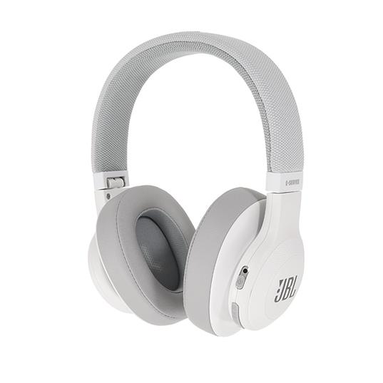 JBL E55BT - White - Wireless over-ear headphones - Detailshot 15