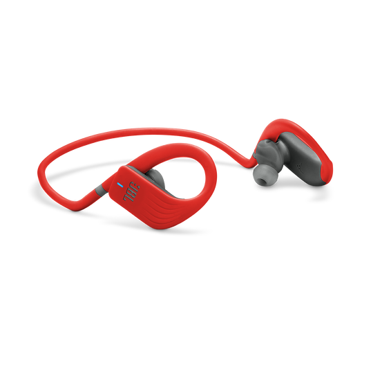 JBL Endurance JUMP - Red - Waterproof Wireless Sport In-Ear Headphones - Detailshot 1