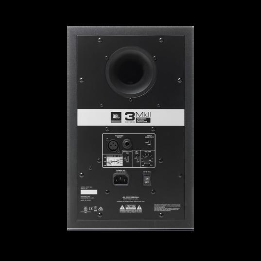 "JBL 306P MkII - Black - Powered 6"" (15.24 cm) Two-Way Studio Monitor - Back"