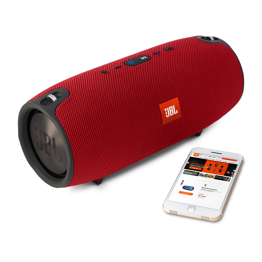 JBL Xtreme - Red - Splashproof portable speaker with ultra-powerful performance - Detailshot 4