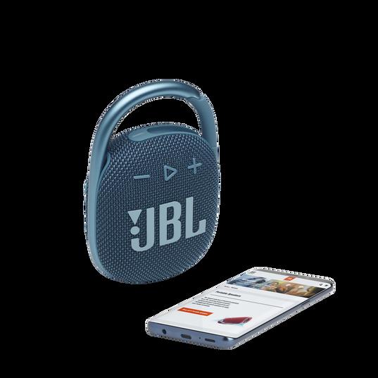 JBL CLIP 4 - Blue - Ultra-portable Waterproof Speaker - Detailshot 1