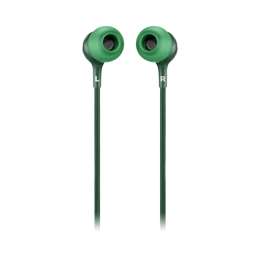 JBL LIVE 100 - Green - In-ear headphones - Back
