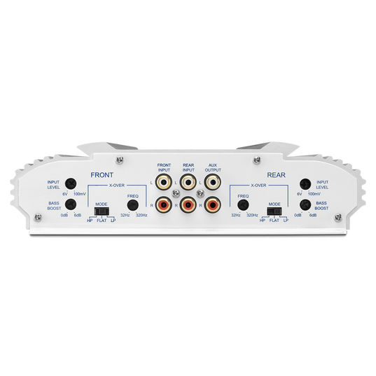 MA 6004 - White - 4-Channel Full-Range Marine Amplifier (60x4) - Back