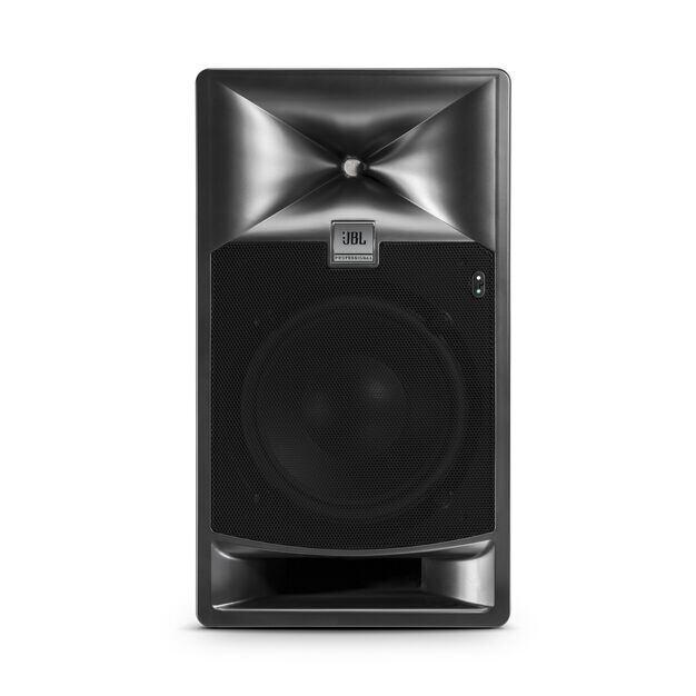 "JBL 708P - Black - 8"" Bi-Amplified Master Reference Monitor - Front"