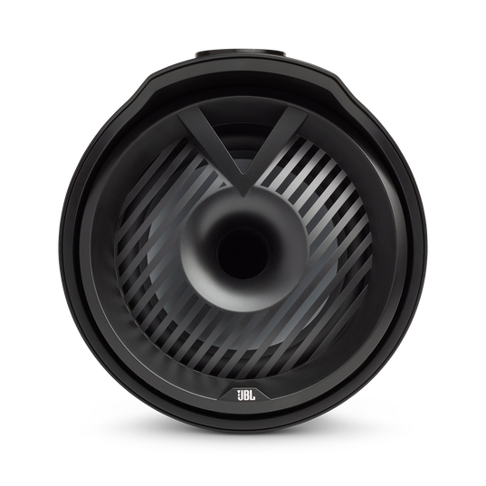 """JBL Tower X Marine MT6HLB - Black Gloss - 6-1/2"""" (160mm) enclosed two-way marine audio tower speaker with 1"""" (25mm) horn loaded compression tweeter – Black - Front"""