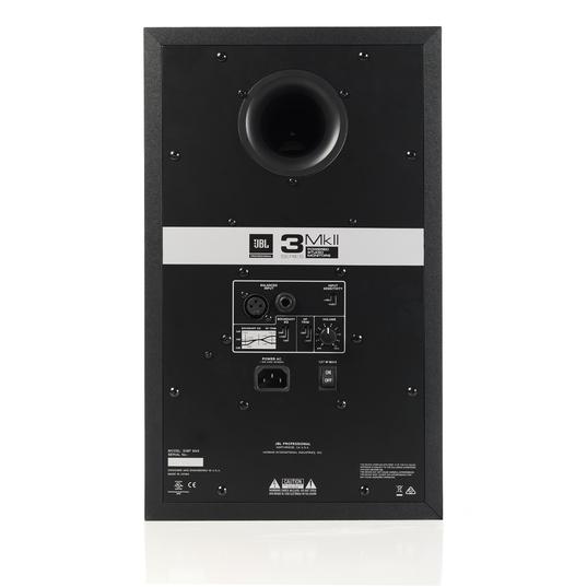 "JBL 308P MkII - Black - Powered 8"" (20.32 cm) Two-Way Studio Monitor - Back"