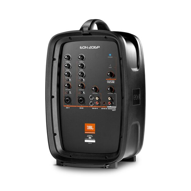 "JBL EON206P - Black - Portable 6.5"" Two-Way system with detachable powered mixer - Detailshot 6"