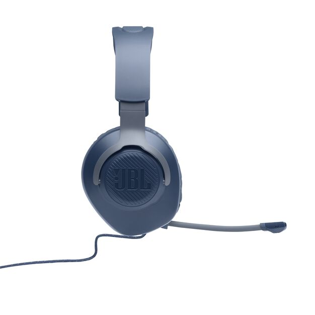 JBL Quantum 100 - Blue - Wired over-ear gaming headset with a detachable mic - Detailshot 6