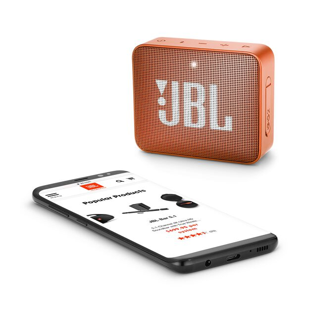 JBL GO 2 - Coral Orange - Portable Bluetooth speaker - Detailshot 3