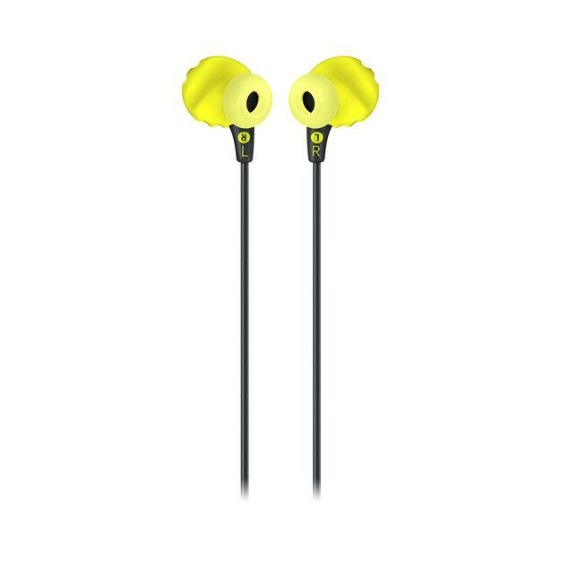 JBL Endurance RUN - Yellow - Sweatproof Wired Sport In-Ear Headphones - Back