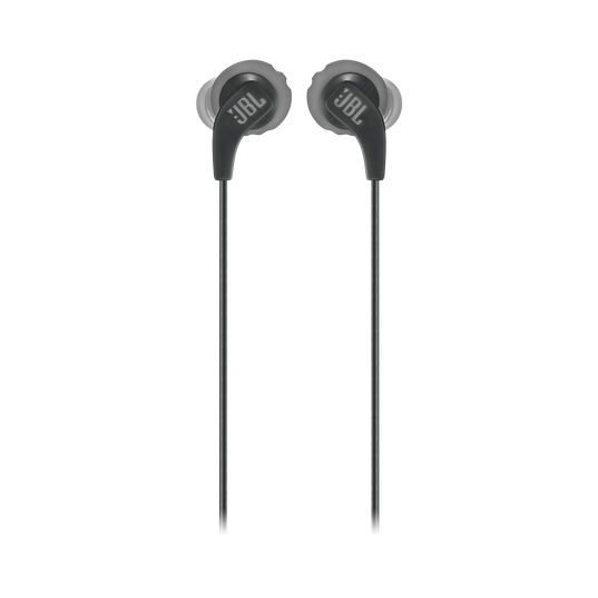 JBL Endurance RUN - Black - Sweatproof Wired Sport In-Ear Headphones - Front