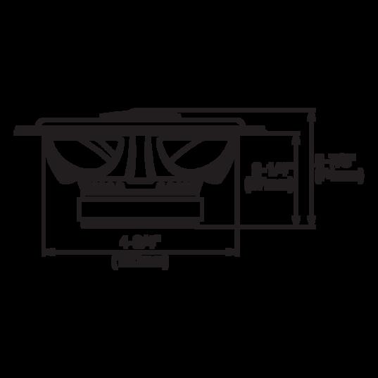 "GX502 - Black - 5-1/4"" coaxial car audio loudspeaker, 135W - Detailshot 1"