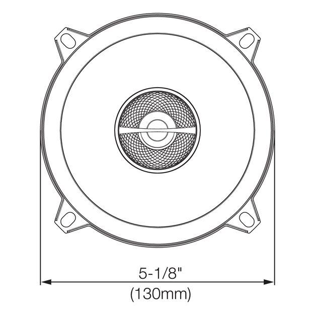 "GX502 - Black - 5-1/4"" coaxial car audio loudspeaker, 135W - Detailshot 2"