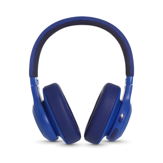 JBL E55BT - Blue - Wireless over-ear headphones - Detailshot 4