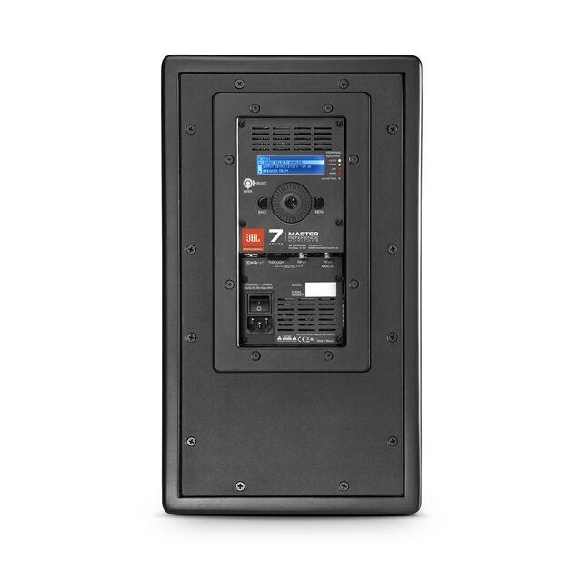 "JBL 708P - Black - 8"" Bi-Amplified Master Reference Monitor - Back"