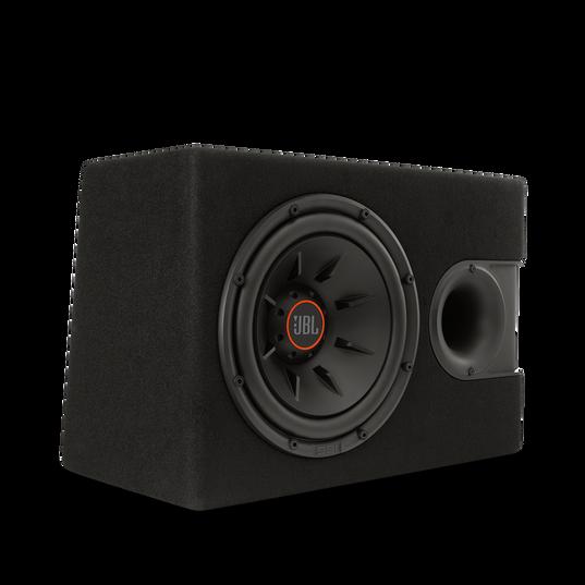 """S2-1024SS - Black - 10"""" (250mm) Slipstream ported enclosure - Detailshot 1"""