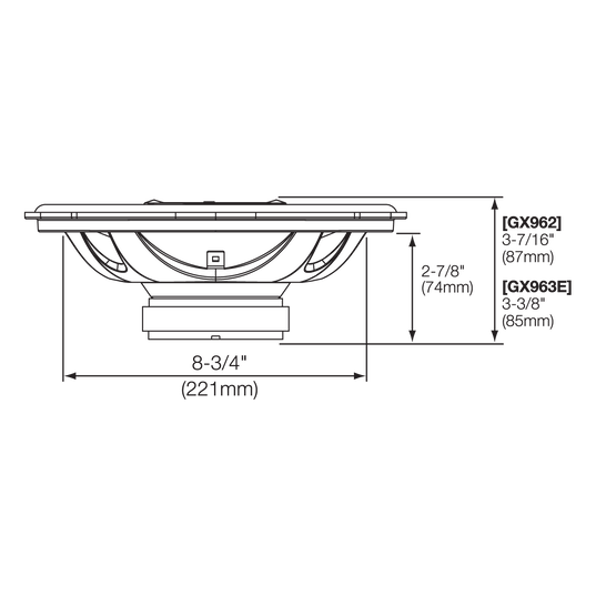 "GX962 - Black - 6"" x 9"" coaxial car audio loudspeaker, 300W - Detailshot 2"