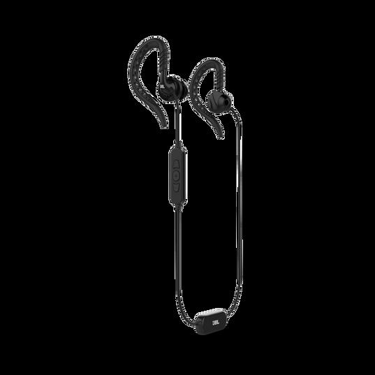 JBL Focus 500 - Black - In-Ear Wireless Sport Headphones - Hero