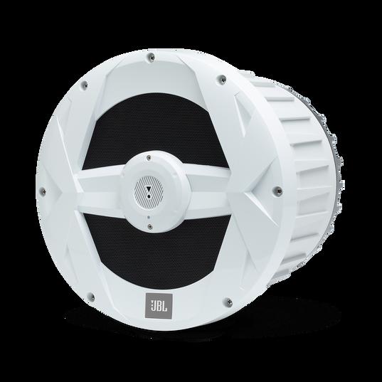 "JBL Marine BassPro 10-inch Powered Subwoofer - White Gloss - MBP10—10"" (250mm) Marine Audio 250W Powered Subwoofer System - Detailshot 3"